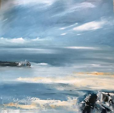 1811 oil a gentle breeze over the harbour