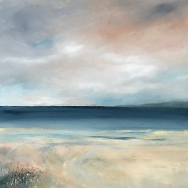 a wintry light over the sea SOLD