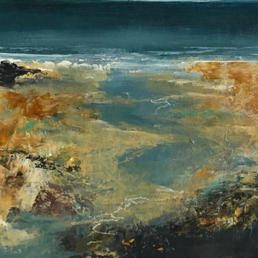 the retreating tide, porthmeor no 4